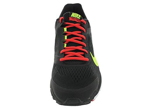 NikeZoom Structure +17 - Scarpe Running Uomo Negro / Verde / Naranja / Blanco (Black / Volt-lt Crimson-white-)