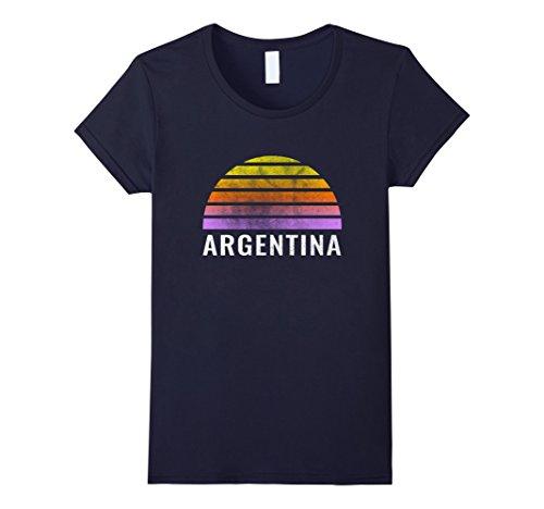 Womens Throwback Sunset Vintage Argentina Shirt Large - Sun Argentina