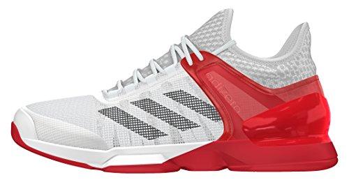 adidas Adizero Ubersonic 2, Scarpe da Tennis Uomo Bianco (Blanco (Ftwbla / Negbas / Rojray))