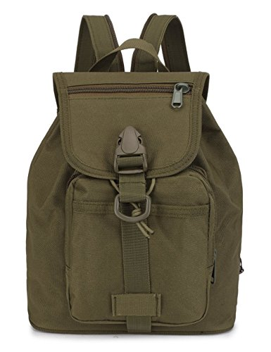 Mini Backpack Daypack,Lanticy Small School Bag Boys&Girls Toddlers Tactical Backpack Military Molle Army Assault Pack Rucksack for Outdoor Sport Travel Hiking Camping School (Armygreen) ()