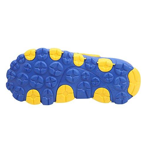 Haodasi Unisex Adult EVA Clogs,Summer Slip On Beach Sandals Pool Bathroom Slipper Outdoor Lightweight Casual Shoes Blue Yellow