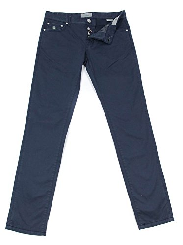 new-luigi-borrelli-navy-blue-solid-pants-super-slim-33-49