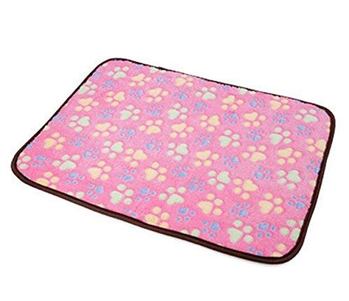 Kennel Pads Dog Beds Pet Bed Blankets Dog Cats Puppy Cooling Pad Cushion Cold Bed Bamboo Mat Ice Sleeping Mat Heat Dissipation Pad for Summer & Winter Pink M4029cm Cat Bed Pet Supplies Cover