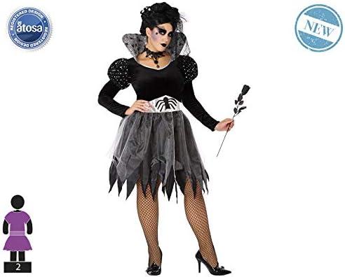 Atosa-61507 Atosa-61507-Disfraz Araña-Adulto Mujer, Color gris ...