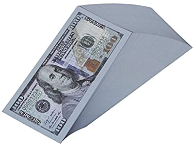 Paper Playing Money - $100 One Hundred Dollar Bills Pretend Play Money Set, 100 Count, 5 x 2.5 Inches