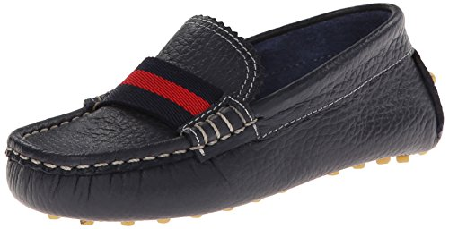Elephantito Boy's Club Loafer Shoe, Navy, 1 M US Little Kid (Youth Navy Footwear Leather)