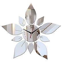 EverTrust(TM) new fashion diy wall stickers clock home decoration modern design living room furniture acrylic mirror stickers