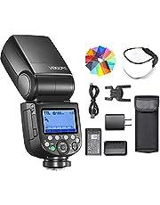 Godox V860III-F Flash for Fujifilm Camera Flash Speedlite 7.2V/2600mAh, 2.4G Wireless HSS 1/8000 1.5s Recycle Time 10 Levels LED Modeling Light for Fujifilm Fuji X-T2 X-T3 X-T4 X-T20 X-H GFX-50S, etc