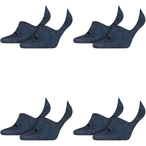 PUMA Unisex Invisible Footie Sport Socken Sportsocken 8er Pack 460 denim blue