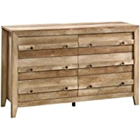 Sauder 419072 Dakota Pass 6-Drawer Dresser, Craftsman Oak Finish
