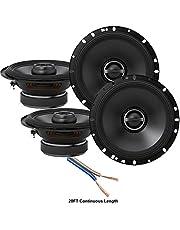 """$189 » Alpine S-S65 Car Audio Type S Series 6 1/2"""" 320 Watt Speakers - 2 Pair with 20' Wire Package"""