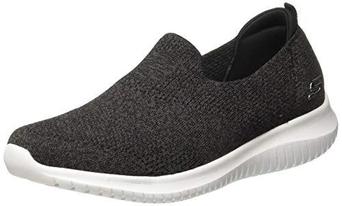 Skechers Women's Ultra Flex-Harmonious Sneaker, Black/White, Size 8.5 (Ladies Sketcher Sneakers)