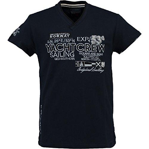 Geographical Norway Herren V-T-Shirt JIMONO Herrenshirt kurzarm Shirt Navy S