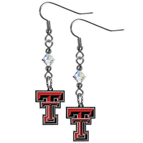 Siskiyou NCAA Texas Tech Red Raiders Crystal Dangle Earrings