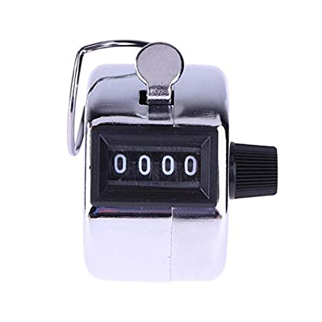 Counters - 4 Digital Hand Tally Counter Manual Counting Golf Clicker Metal Click Training E Ch