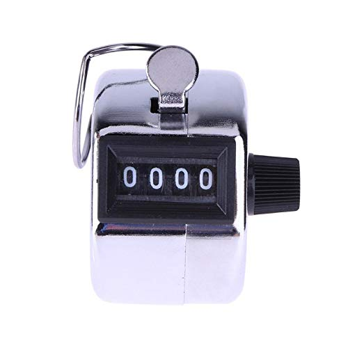 Counters - 4 Digital Hand Tally Counter Manual Counting Golf Clicker Metal Click Training E Ch - Digit Hand Golf Metal Manual Tensiometro Accessories Chime Digital Finger Number Clicker Blood