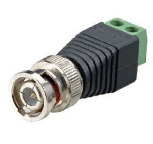 Cop Security 15-TV125B Terminal Block BNC Male Coax Cat5 Camera CCTV Video Balun Connector (Stainless Steel)