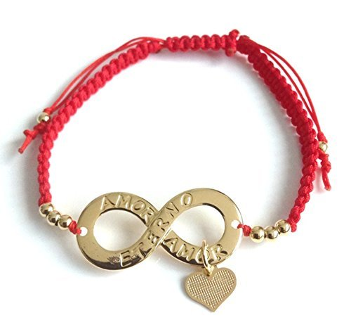 Infinity Bracelet Adjustable Red Sting Pulsera roja Amor Eterno Infinito Endless Love Symbol Charm