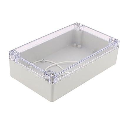 eDealMax 200x120x56mm cubierta transparente caja de conexiones a prueba de agua Caja de conexiones del recinto