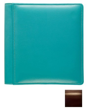ROMA BROWN #102 smooth grain leather 2-up album by Raika - 4x6 by Raika®