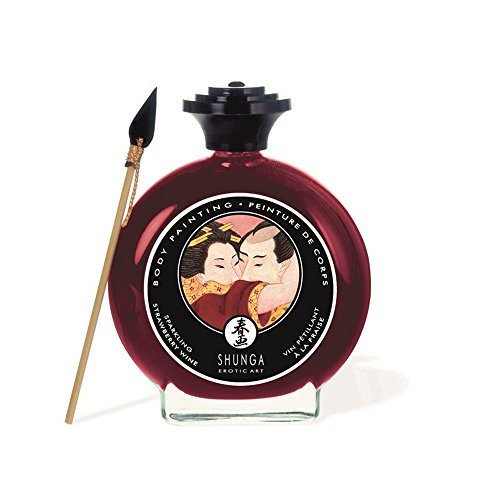 Pintura Corporal Comestible Sabor Cava y Fresas 100 ml – Sh