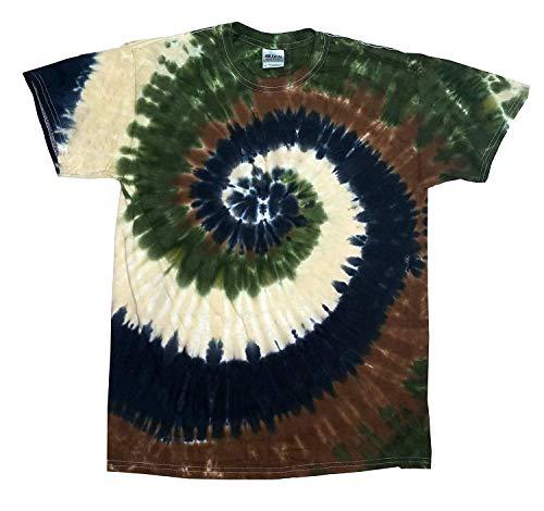 (Krazy Tees Tie Dye T-Shirt, Camo Swiral, Small )