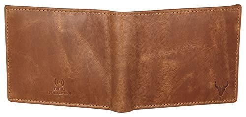41QEoKtI9fL Napa Hide RFID Protected Genuine High Quality Leather Wallet for Men (Brown)
