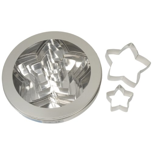 Ateco 7808 Plain Edge Star Cutter Set in Graduated Sizes, Stainless Steel, 10 Pc Set