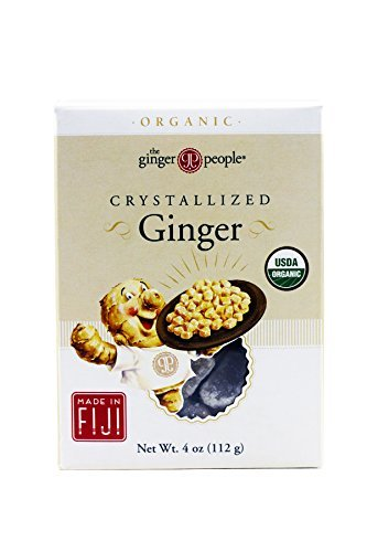 (The Ginger People Organic Crystallized Ginger, 4 Ounce Boxes (Pack of 6))
