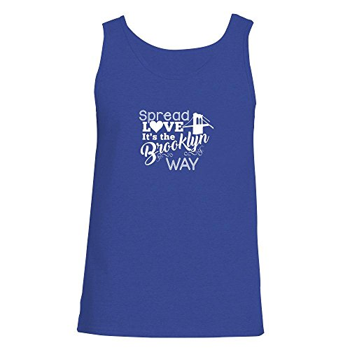 Wallace Royal Thread (Pop Threads Spread Love It's The Brooklyn Way Royal Blue XL Mens Tank Top)