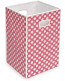 Badger Basket Folding Hamper/Storage Bin, Pink