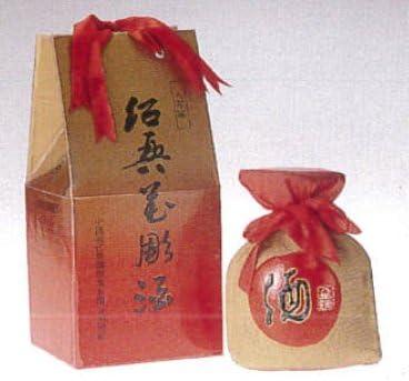 横浜中華街 花彫王(8年陳紹興酒)、600mlX8個(1ケース売り)、壷・化粧箱付き・福・禄・寿・喜・縁起のよい文字が描かれたお酒です♪
