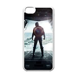 LJF phone case C-EUR Print Captain America 2 Pattern Hard Case for iPhone 5C