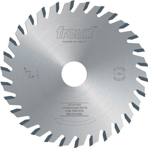 Freud LI17MGA3 120mm 30 Tooth Carbide Tipped Adjustable Scoring Blade for Scoring Coating on Double-Sided Laminate Panels
