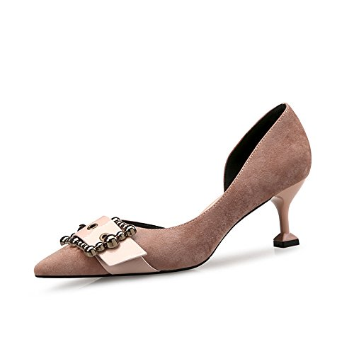 35 Des Pointe Une Paire Ct De Chaussures Vides Avec Les Kaki Seulement Fine wO7n4q