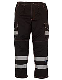 """Yoko Hi Vis Cargo Trousers With Knee Pad Pockets - 4 Colours / 28""""- 48"""""""