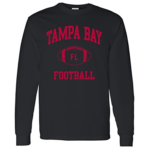 (Tampa Bay Classic Football Arch American Football Team Long Sleeve T Shirt - X-Large - Black)