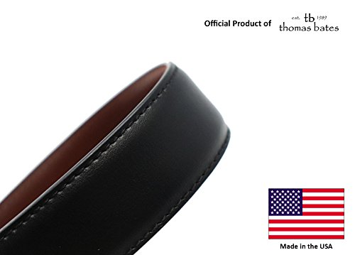 Metal Free Travel Belt (Large (40-42) Black/Brown by Thomas Bates (Image #2)