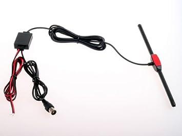 Antena HitCar amplificadora de señal para coche, TV y radio