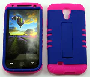 SAMSUNG GALAXY S4 S IV CASE NEON PURPLE MA-A006-XDP HEAVY DUTY HIGH IMPACT HYBRID COVER MAGENTA HOT PINK SILICONE SKIN I9500
