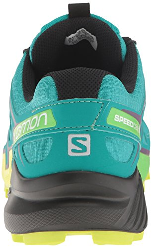 Salomon Women's Speedcross 4 W Trail Runner, Deep Peacock Blue/Lime Punch./Grape Juice, 5 B(M) US by Salomon (Image #2)