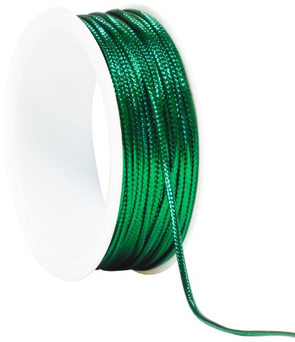 The Gift Wrap Company 25-Foot Tinsel Cord, Green (16060-08)