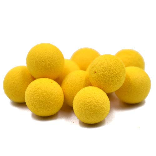Phecda Sport 30pcs 12mm Smell Carp Fishing Bait Boilies Eggs / 4 Flavors Floating Ball Beads Feeder Artificial Carp Baits Lure/Hair Rig (Yellow-Sweet Corn(12mm))