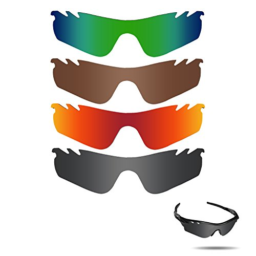 Fiskr Polarized Replacement Lenses for Oakley Radarlock Path Vented Sunglasses Polarized 4 Pairs by Fiskr