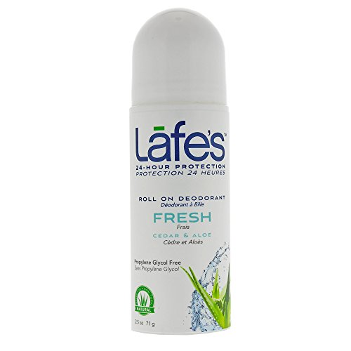 Lafe's Roll-On Deodorant, Cedar & Aloe, 2.5 Ounce
