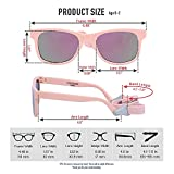 COCOSAND Baby Sunglasses with Strap, Pink