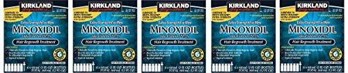 Kirkland Minoxidil 5 percentage Extra Strength Hair Loss Regrowth Treatment Men, 5 Pack (6 Months Supply)