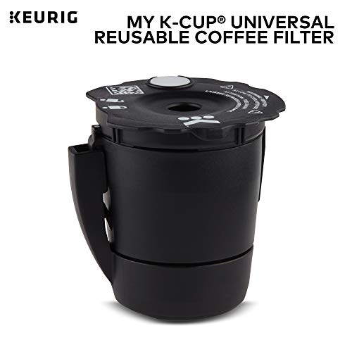 Keurig My K-Cup Universal Reusable Ground Coffee Filter, Compatible with All Keurig K-Cup Pod Coffee Makers (2.0 and 1.0) (Best K Cup Reusable Coffee Filter)