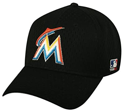 Miami Marlins Youth & Adult Official MLB Replica Adjustable Velcro Baseball Cap/Hat (Adult (6 7/8 - 7 1/2)) by Authentic Sports Shop