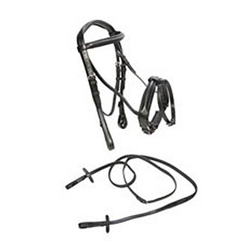 - Caldene Bridle Flash Crank With Rubber Reins (Pony) (Black)